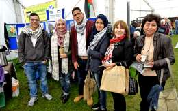 Photo of 6 visitors from Nablus