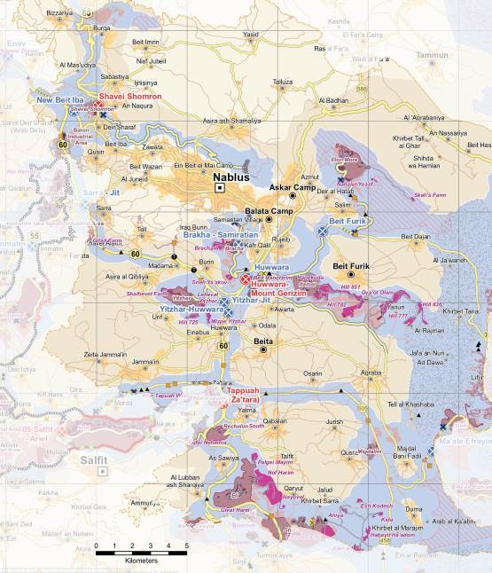 UN map of settlements