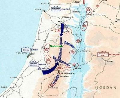 Map showing invasion routes