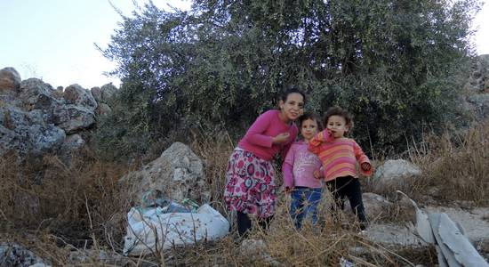 Three children in Nablus